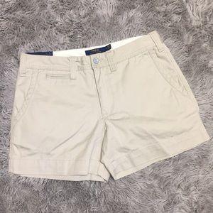 Women Polo Ralph Lauren Classic Khaki Shorts 4 New